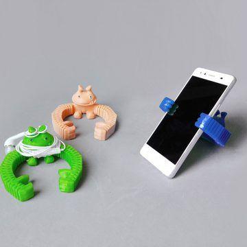 Un diseño 3D sencillo peromuy ingenioso. ¿Quién ha dicho que tu mamá no lo necesita para el móvil?