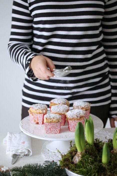 """""""di cuore"""": Mini panettoni facili e veloci in pentola fornetto, zimtsterne table setting per Natale"""