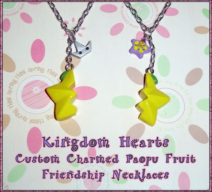 Kingdom Hearts - Friendship Paopu Fruit Charm Set by *YellerCrakka on deviantART