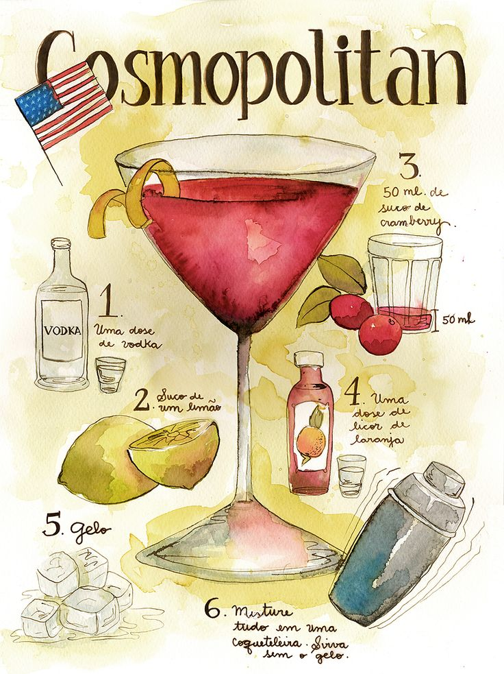 Classic Cosmopolitan: 1 1/2 ounces vodka, 1/2 ounce cointreau, 3/4 ounce cranberry juice, 1/2 ounce fresh lime juice