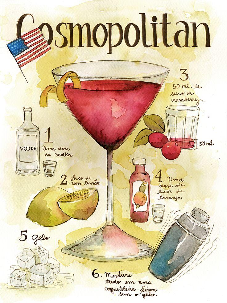 Classic Cosmopolitan: 1 1/2 ounces vodka 1/2 ounce cointreau 3/4 ounce ...