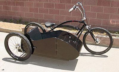 Crazy cool bicycle with sidecar