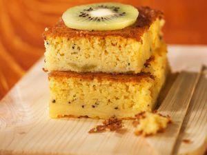 Gâteau à l'orange et au kiwi, facile et pas cher