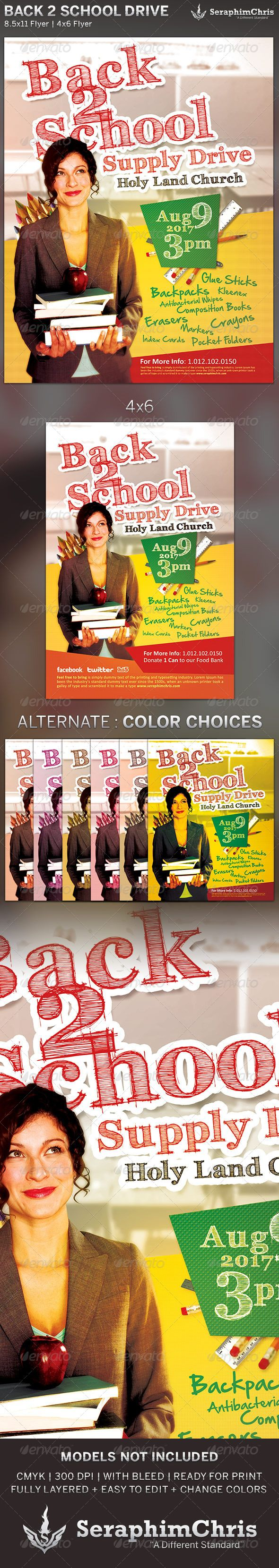 best images about reference flyer template back to school drive church flyer template