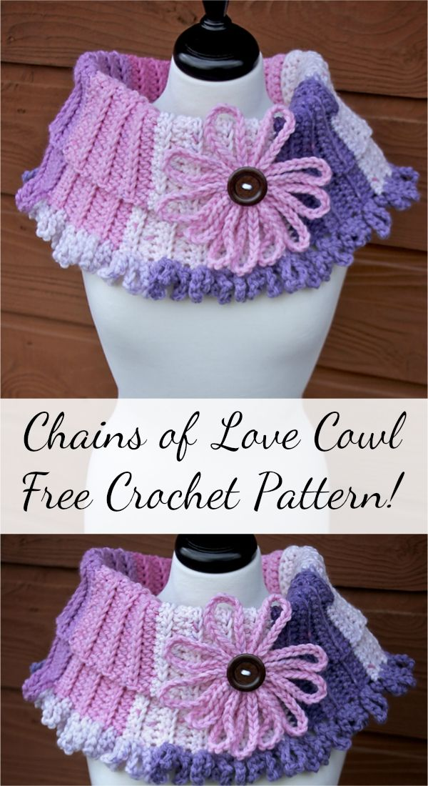 [Free Pattern] Chains of Love Crochet Cowl!