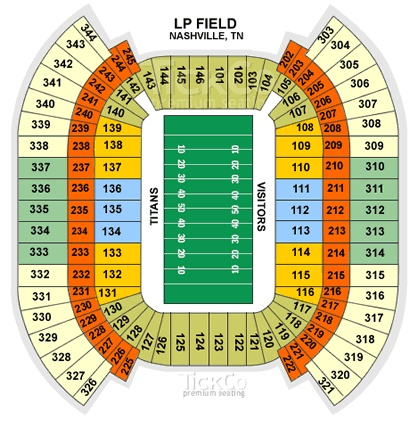 LP Field Seating Chart: One direction concert, August 19, 2014.. LEVEL 226 row D seats 8&9