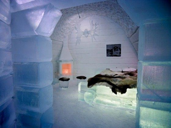 Prachtig ijshotel in Zweden
