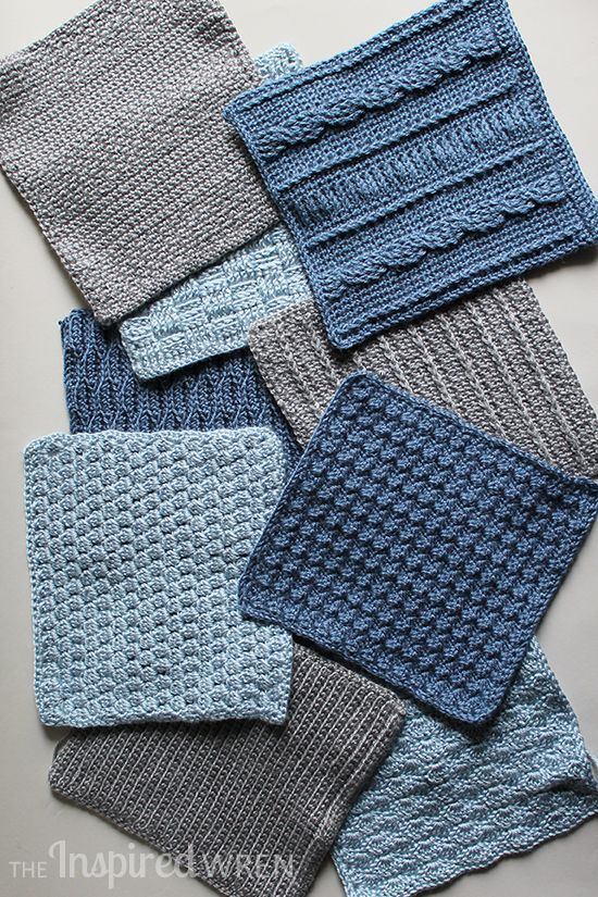Love this colorway! Crochet Along Afghan Sampler 2015 from The Inspired Wren | CAL with 2 squares per month for a complete blanket in one year!