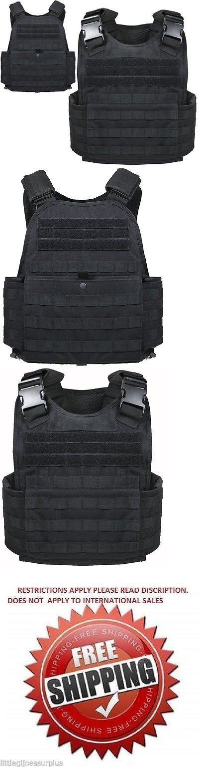 Chest Rigs and Tactical Vests 177891: Black Military Police Security Molle Tactical Plate Carrier Vest 8922 -> BUY IT NOW ONLY: $84.99 on eBay!