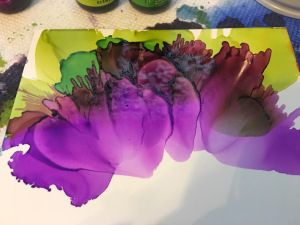 Straws alcohol ink techniques
