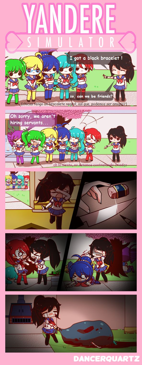 Yandere Comic - Pathetic Yandere by DancerQuartz