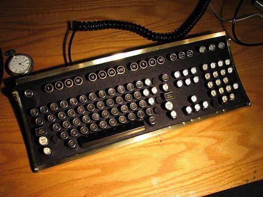 Vintage Typewriter Keyboard (Shut up and take my money!)Old Schools, Old Typewriters, Steampunk Keyboard, Vintage Wardrobe, Vintage Typewriters, Steam Punk, Computer Keyboard, Typewriters Keyboard, Computers Keyboard