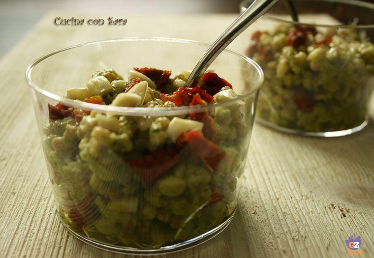 Farro con pesto di zucchine