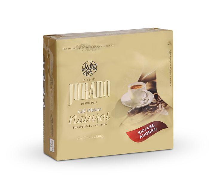 Café Molido Tueste Natural, envase ahorro, para disfrutar del molido correcto y obtener todo su cuerpo, sabor color y textura del café.