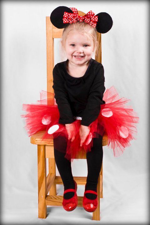 Brooklyns Halloween costume but the tutu is red and black with white polk a dots, her ears look better and shes going to ROCK IT!!!