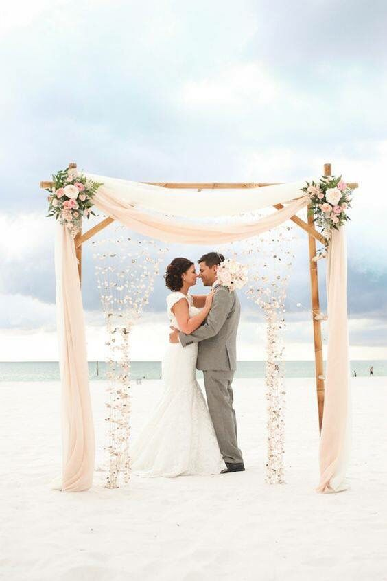 Like draping and simplicity of flowers. Back drop not necessary.