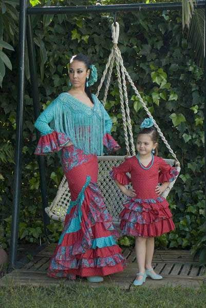 Traditional flamenco dresses