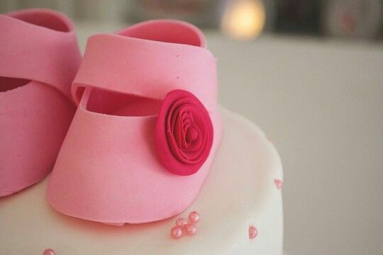 Bootie and spiral flower cake - Boheme delices francaises