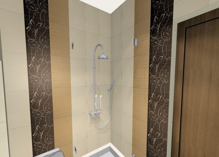 Fürdőszoba burkolati terve Zalakerámia Portofino csempével