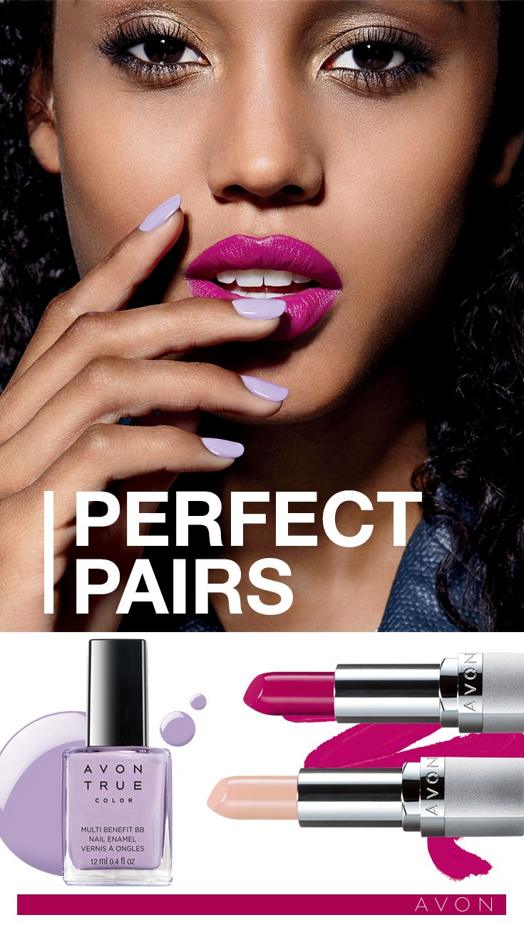 Treat lips and nails to a look that is posh and polished #AvonCanada