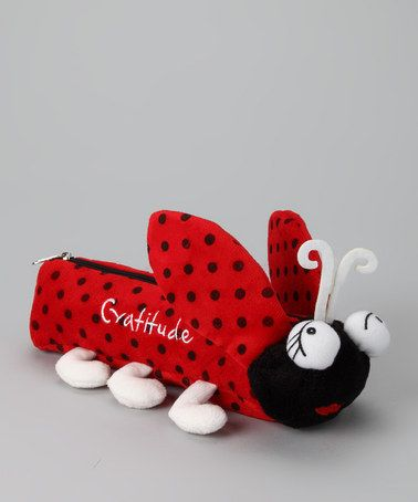 Take a look at this Red & Black 'Gratitude' Ladybug Pencil Pal by Cloud9World on #zulily today!