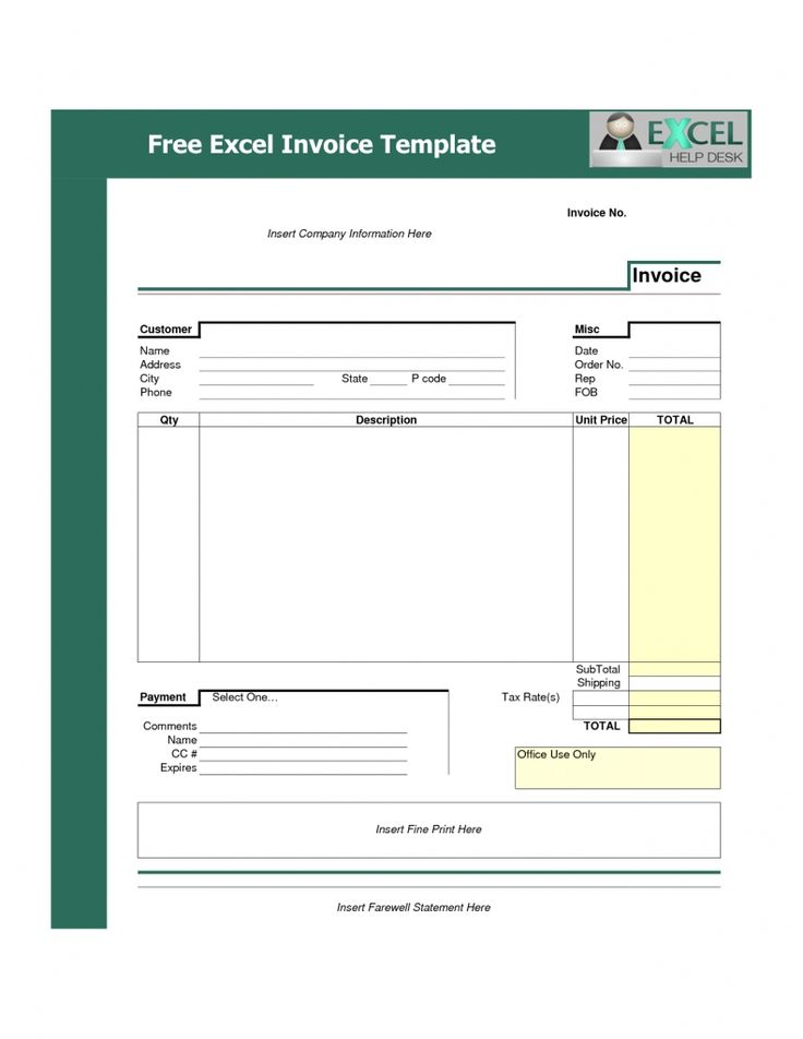 267 best invoice images on Pinterest Sample resume, Job resume - excel invoices templates free