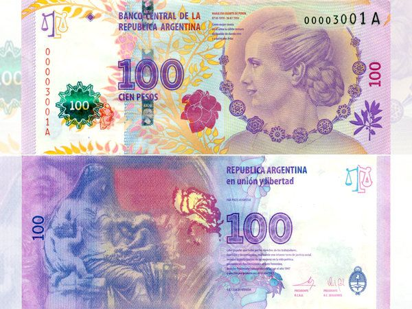 Argentina:nuevo billete de cien pesos