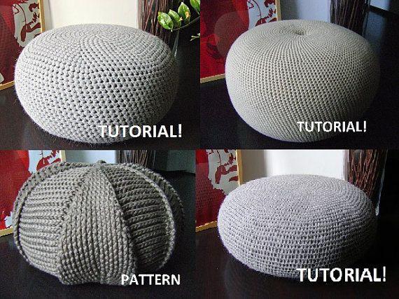 Crochet Pattern Knitting Pattern 9 Knitted & Crochet Pouf