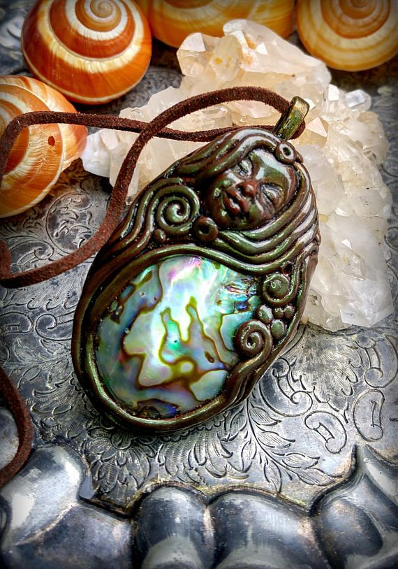 Mermaid Necklace Sea Pendant Water Sign Hippie Gift Goddess