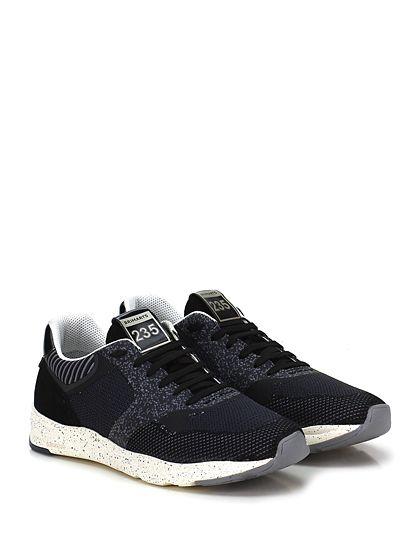 BRIMARTS - Sneakers - Uomo - Sneaker in camoscio e tessuto lavorato con inserti in pelle e suola in gomma. Tacco 40, platform 25 con battuta 15. - NERO - € 180.00