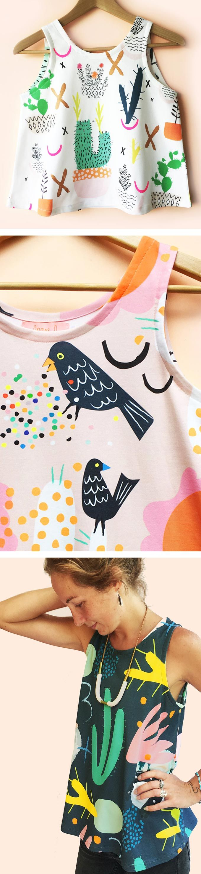 Illustrated clothing by Doops Design