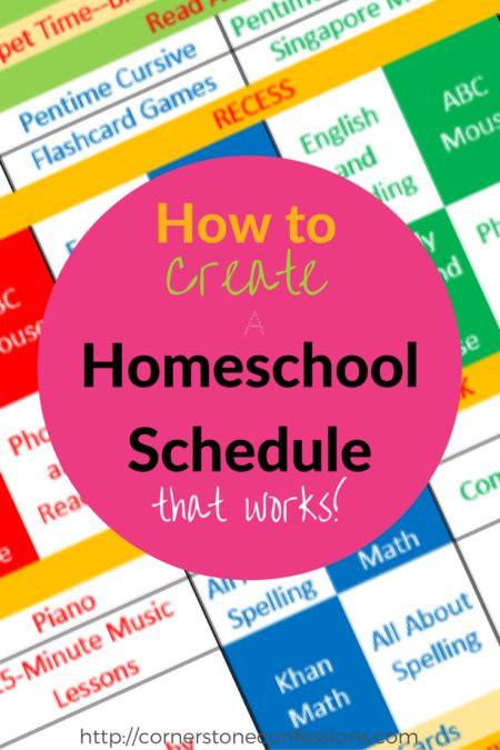 How to Create a Homeschool Schedule that Works! Great idea!