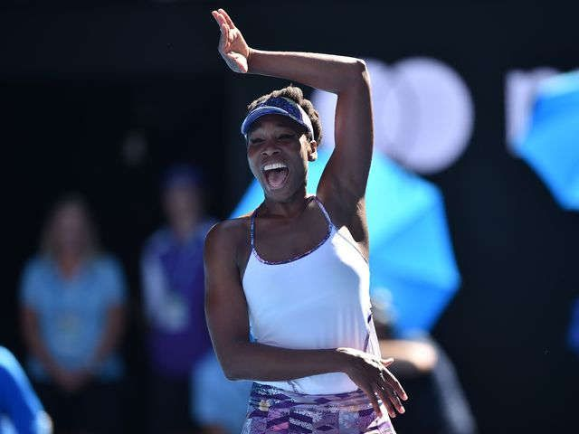 Venus Williams can't contain herself after reaching Australian Open final