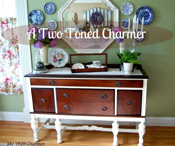 two tone furniture painting. love two toned furniture see more we found this buffet at a thrift store for 90 bucks and transformed her in tone painting e