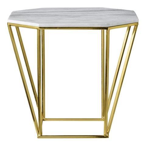Marble/Gold Table by Bloomingville