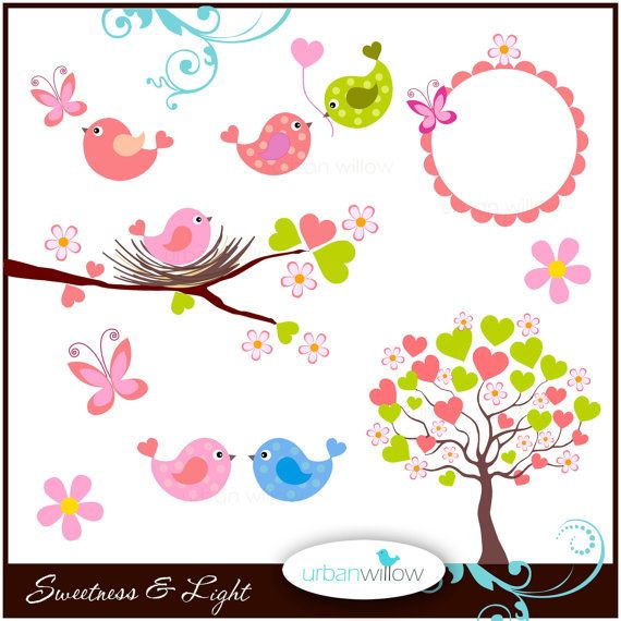 SWEETNESS & Light  9 piece clip art collection. Png by urbanwillow, $4.95