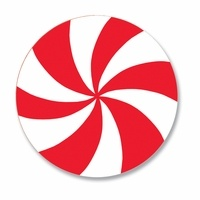Peppermint Swirl Coaster Use Pattern As Template For