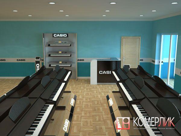 Торговая мебель для магазина музыкальных инструментов