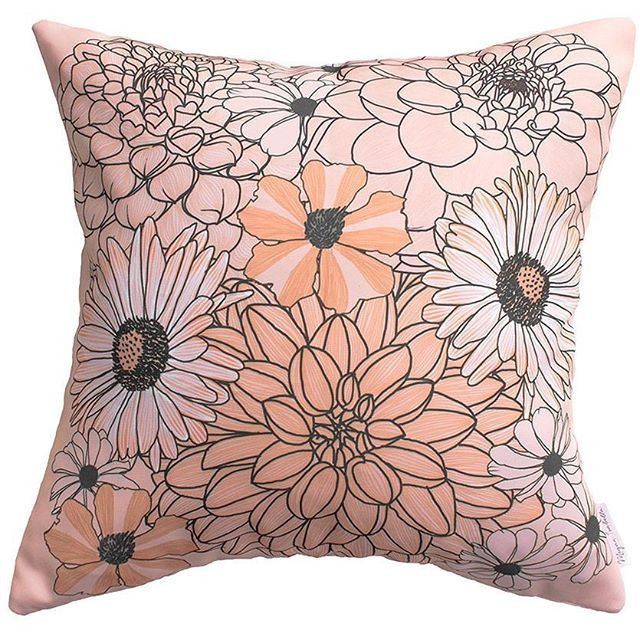We have a new store on DTLL and her designs have a glorious retro touch whilst staying modern in colour... To find this search 'dahlia darling on dtll.com.au (link in profile) #floral #cushion #flowers #decor