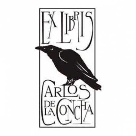 Ex Libris for Carlos de la Concha. sello de resina personalizado a medida exlibris ex libris sello para libros resina,madera a partir de boceto