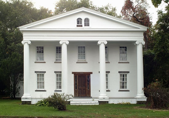 Located at the intersection of Rte. 1 and The Old Clinton Road, in Clinton, Connecticut; this stately Greek Revival home is still owned by the original descendants. It is one of the finer examples of Greek Revival architecture in Connecticut.