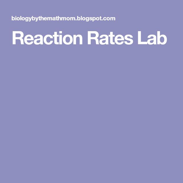 Reaction Rates Lab