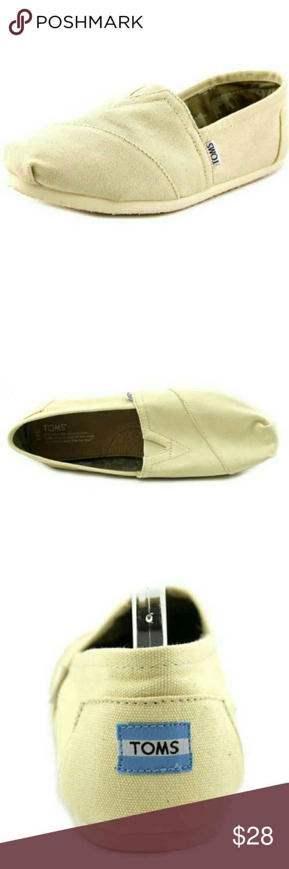 Toms Classic loafer Toms Classic men round toe canvas tan loafer. Color : Light Beige.. TOMS Shoes Loafers & Slip-Ons