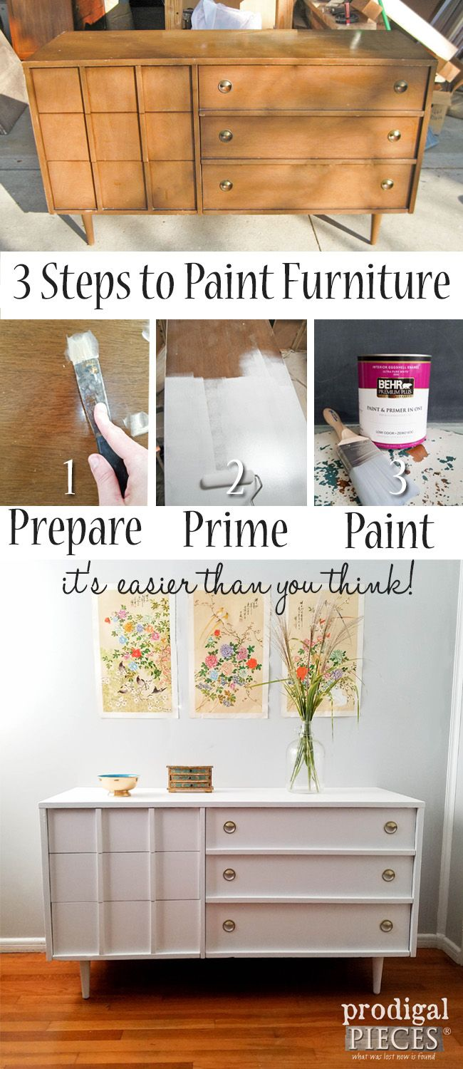 3 Steps to Paint Furniture by Prodigal Pieces | prodigalpieces.com