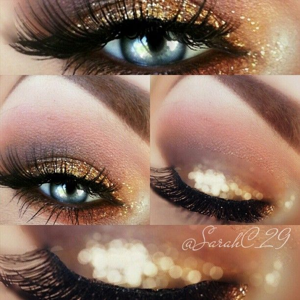 Glitter smokey look! I know this is kinda dark but the glittery part would be pretty for your wedding :)