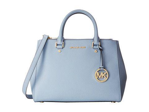f238b509e83b Pale blue satchel handbag from MICHAEL Michael Kors. #purses #bags ...