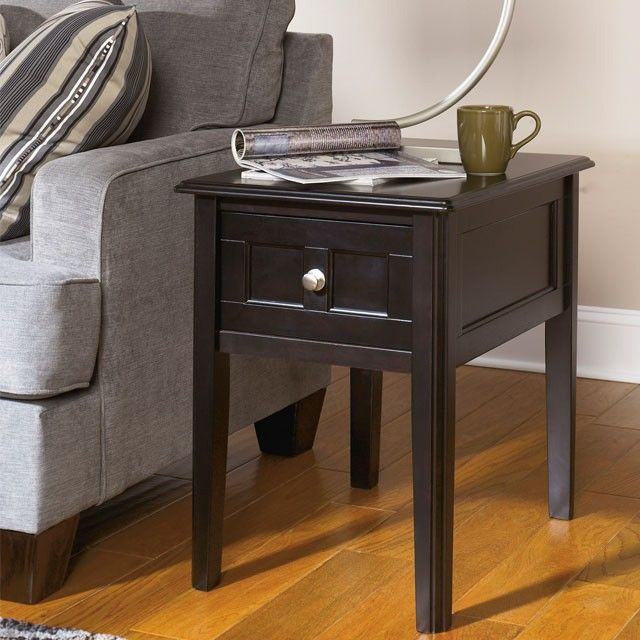 Henning Chair Side End Table - Almost Black - (Set of 1) - T479-7 by Ashley Furniture Signature Design