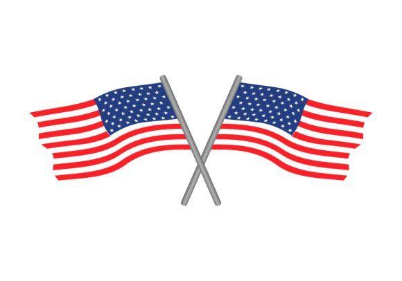 Usa Flags Logo Vector Graphic By Deemka Studio Creative Fabrica In 2020 Flag Logo Vector Logo Logos