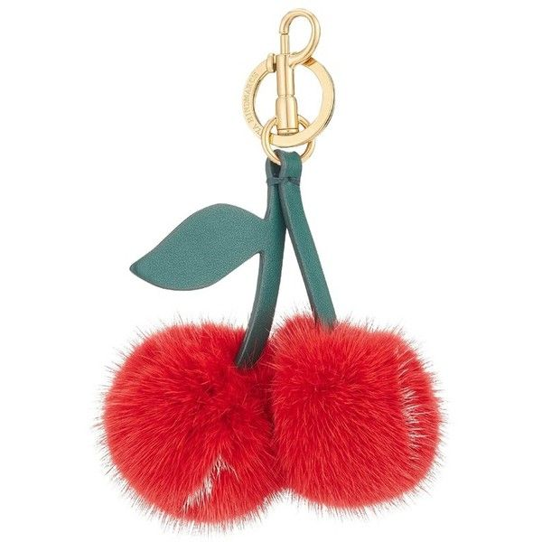Women's Anya Hindmarch Build A Bag Genuine Mink Fur Tassel Bag Charm ($495) ❤ liked on Polyvore featuring bags, handbags, bright red, tassel purse, red handbags, anya hindmarch purse, white hand bags and mink handbag