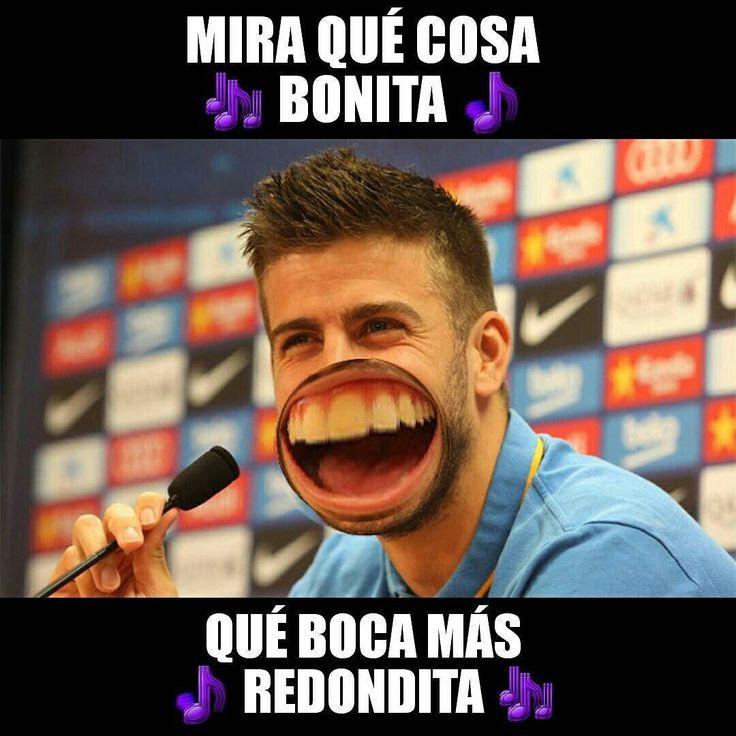 #Piqué #Shakira #MiaQuéBocaMásRedondita